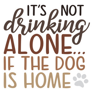 drinking alone-dog