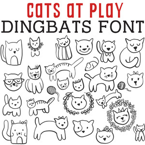 cg cats at play dingbats