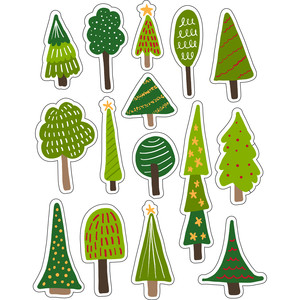 ml christmas trees stickers