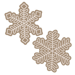 layered snowflake set
