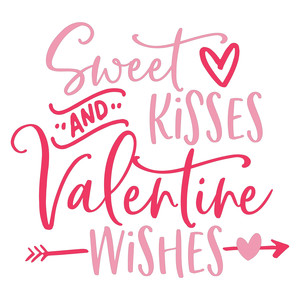 sweet kisses and valentine wishes