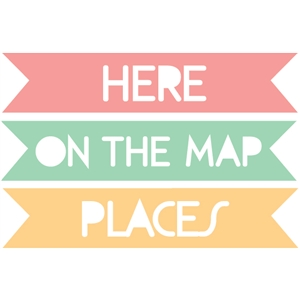 set of 3 on the map word tags