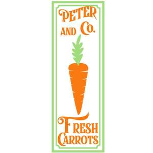 peter & co carrot sign