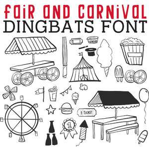 cg fair and carnival dingbats