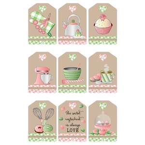 baking-themed gift tags