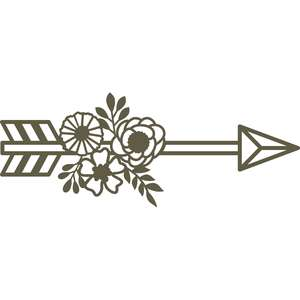 arrow with flowers and leaves