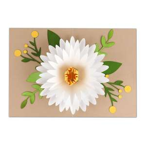 5x7 pop up flower card
