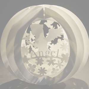 three layered pop up sphere angel