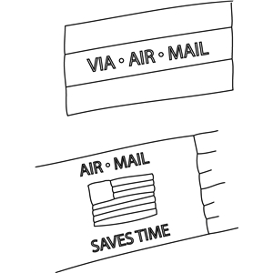 air mail sketch
