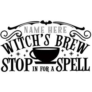 custom witch's brew sign