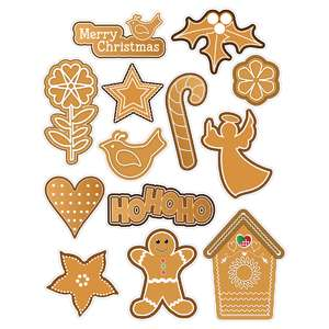 christmas gingerbread cookie stickers