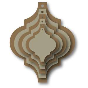 nested tile ornament tag