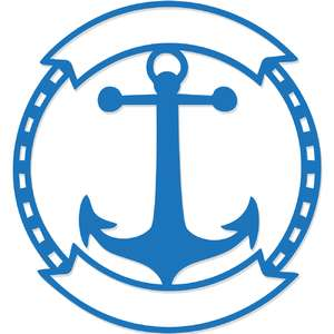 nautical anchor badge