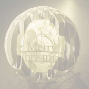 four layered pop up sphere merry christmas pro