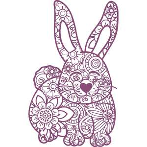 rabbit mandala zentangle
