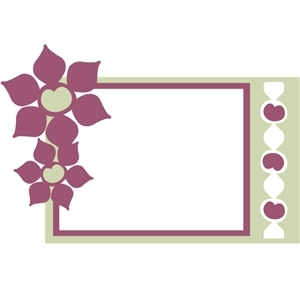two flower frame