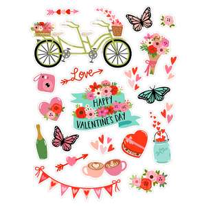 valentine's day romance stickers