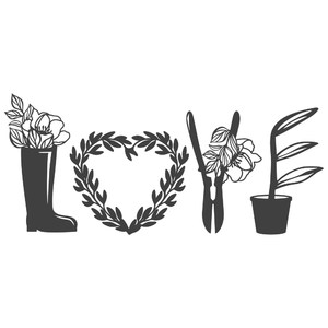 garden love word art