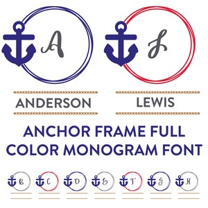 anchor frames monogram full color font