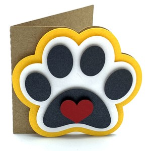 paw and heart card