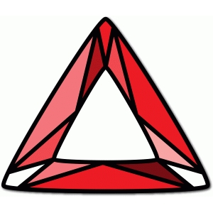 stained glass triangle gem