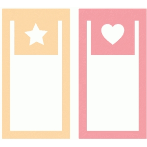 set of 2 star and heart paperclips