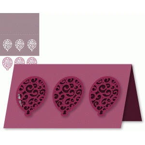 flourished balloons card