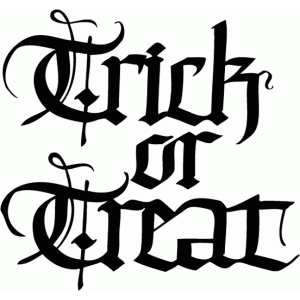 trick or treat- calligraphy