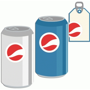 soda and tag set: cola