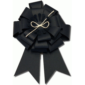 3d large layered bow with circle center