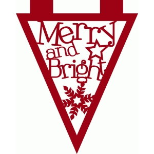 merry and bright banner