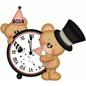 new years bear w clock 2014 pnc