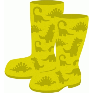 rubber boots with dinosaurs