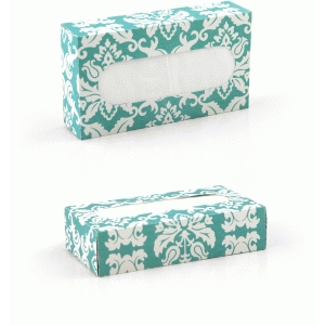 3d travel sized tissue box