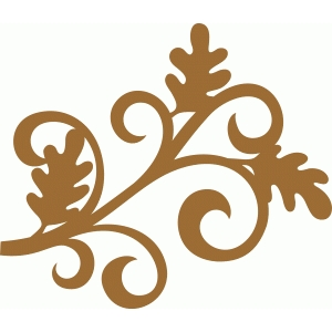 oak leaf flourish