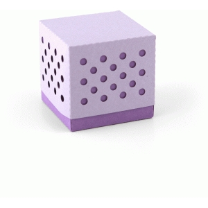 3d dot pattern favor box