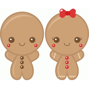 gingerbread boy & girl