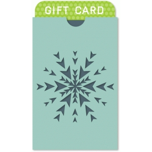 snowflake envelope gift card holder