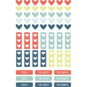 planner stickers | my heart collection