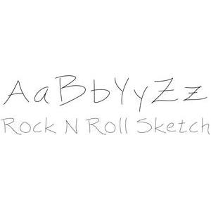 rock n roll sketch font