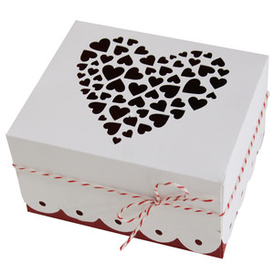 hearts cluster box with lid