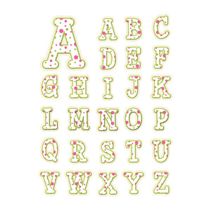 polka dot alphabet - capitals