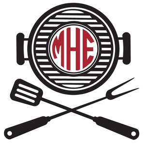barbecue grill monogram frame