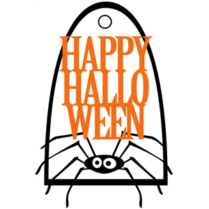 spider halloween tag