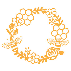 honey bee wreath