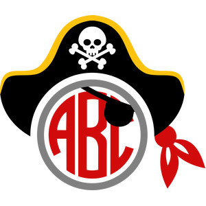 pirate hat monogram