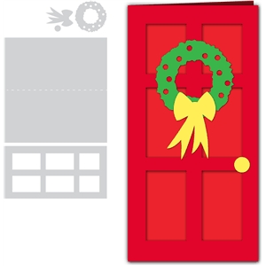 card christmas door