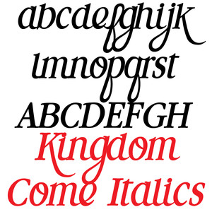 pn kingdom come italics