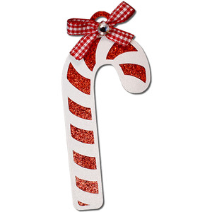 candy cane gift tag ornament