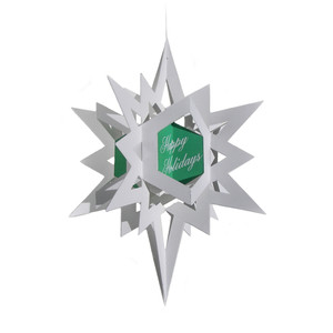 3d bethlehem star ornament/card